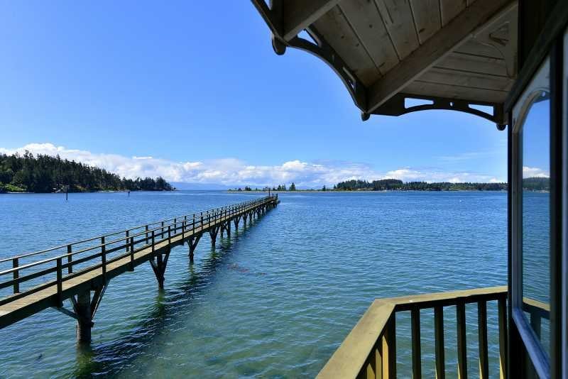 Fifty foot dock with deep water moorage - Pacific Coast Beach House and Suite - Four Bedroom Home and Suite with St - Sooke - rentals