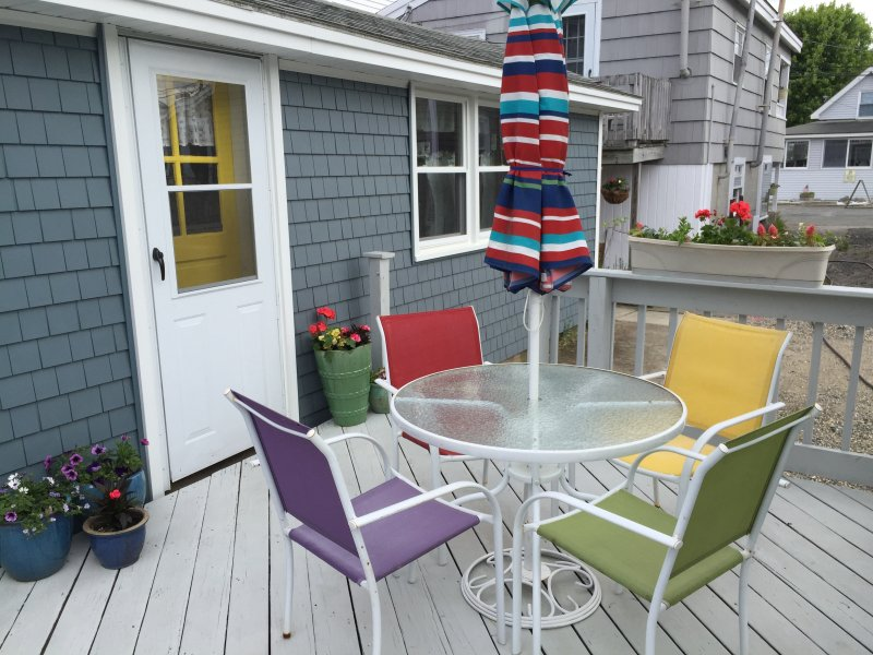 Fantastic deck off the side of the house! - Cute, Cozy & Clean Beach Cottage - Great Deck! - Hampton - rentals