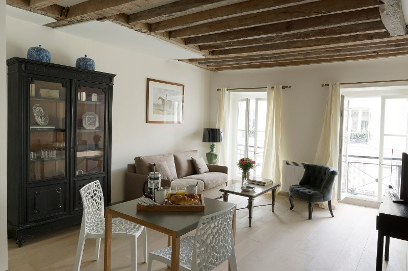 Living Room View One  - Invalides / Eiffel Tower Charming One Bedroom - Paris - rentals