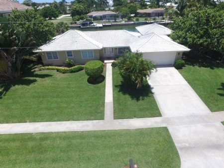 Aerial Scape of Propertry - Spacious and inviting ...Updated waterfront home with direct boating access...Come and Enjoy ! - Marco Island - rentals