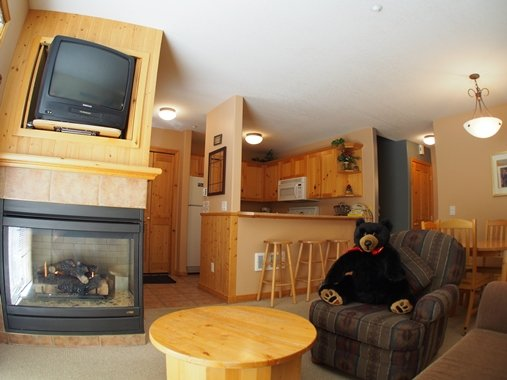Living, Dining, Kitchen - Crystal Forest Condos - 04 - Sun Peaks - rentals