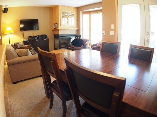 Living and Dining - Crystal Forest Condos - 07 - Sun Peaks - rentals