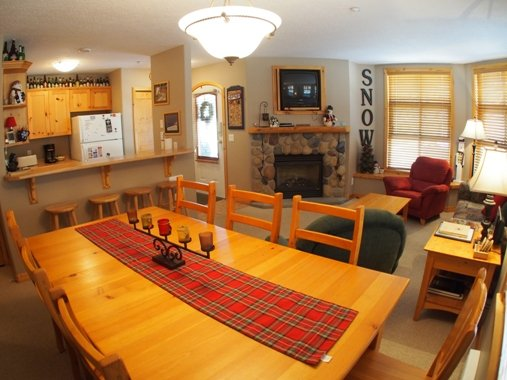 Dining Living Kitchen - Crystal Forest Condos - CF27 - 451 - Sun Peaks - rentals