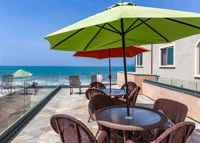 Beachfront Only Vacation Rentals  - 10br oceanfront home, rooftop decks, private spas, A/C Equipped - Oceanside - rentals