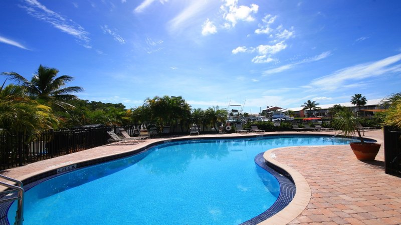 Our beautiful Oasis Pool, awaits your pleasure - Hope we can Welcome YOU SOON...Sally and Andrew - Kawama Tower 406 - Kawama Yacht Club - Key Largo - Key Largo - rentals
