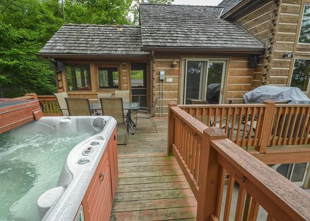Hot Tub - Premier Chalet Located on top of Wisp Mountain - McHenry - rentals