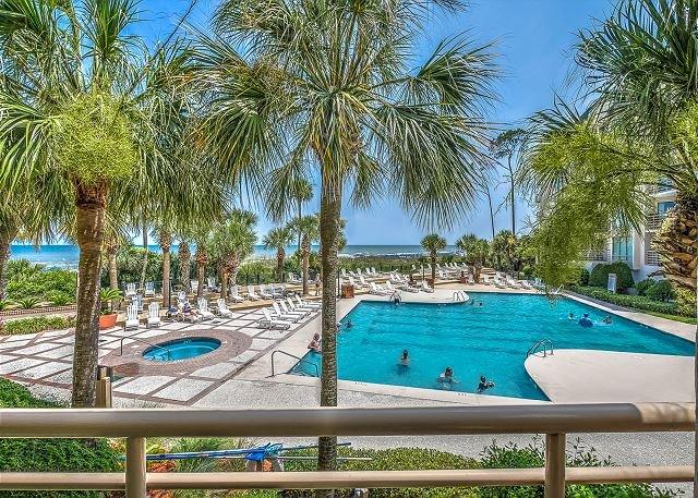 View - 1101 Villamare-1st floor OCEANFRONT  villa overlooking pool/ocean. - Hilton Head - rentals