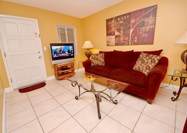 Front entrance into Living Room - Waves 14 - Immaculate 2nd Floor St Pete Beach Condo - New Kitchen w/Granite! - Saint Pete Beach - rentals