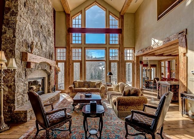 Great Room - Elegant 7 Bedroom Beaver Creek Chateau In The Coveted Holden Neighborhood - Beaver Creek - rentals