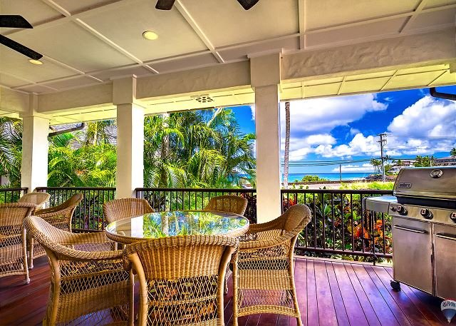 Lanai - Makala'e: Luxurious 5 bed/5 bath Ocean View Villa! - Koloa - rentals