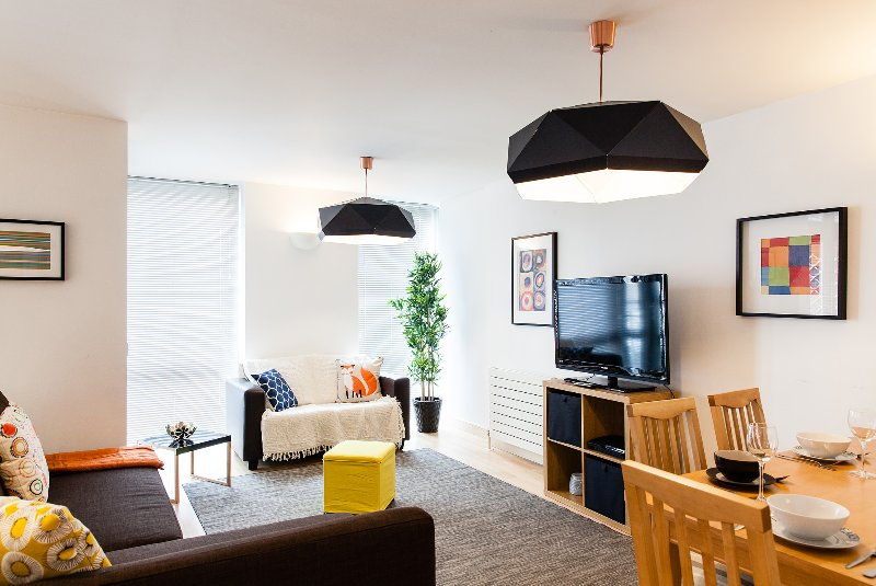 Nicely decorated living room - Spacious well decorated 2- Bed 2- Bath Apt - central clean, Free WiFi Sleeps 6-8 - London - rentals