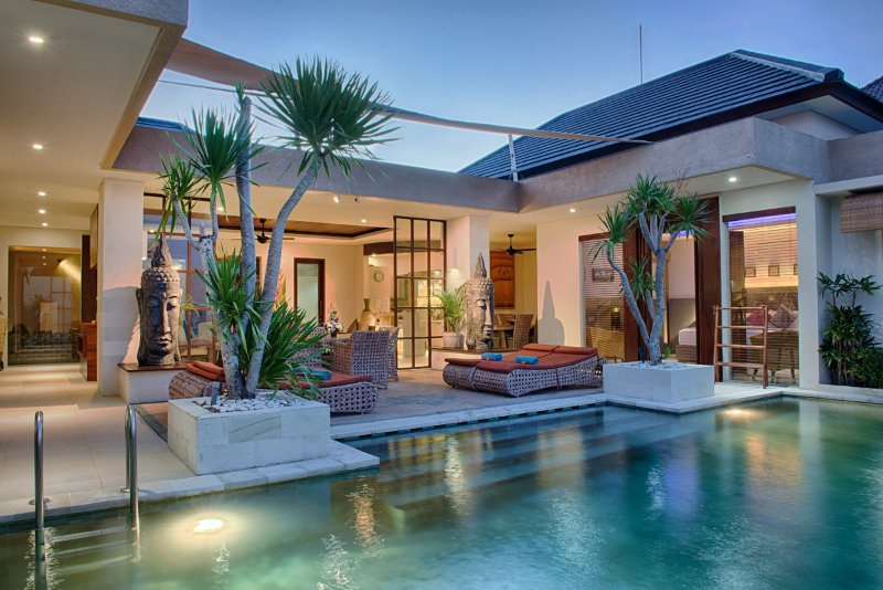 Private pool terrace - Villa Lisha  Deluxe - Pool villa - Seminyak - rentals