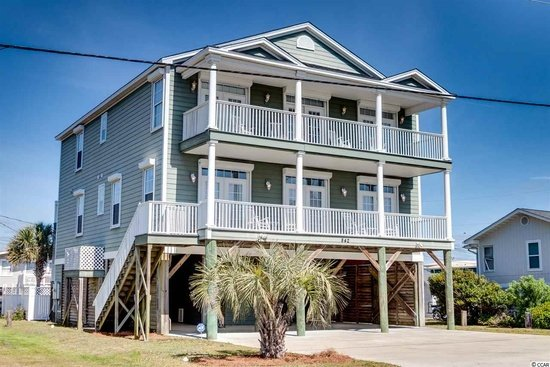 Front of House - Luxury Ocean/Marsh Vw 7BR/6.5BA House Pool 2nd Row - Garden City Beach - rentals