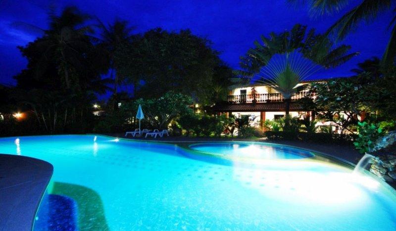 Villa night view from the resort pool. - Laguna POOL - Luxurious 3 Bedroom Poolside Villa - Mae Nam - rentals
