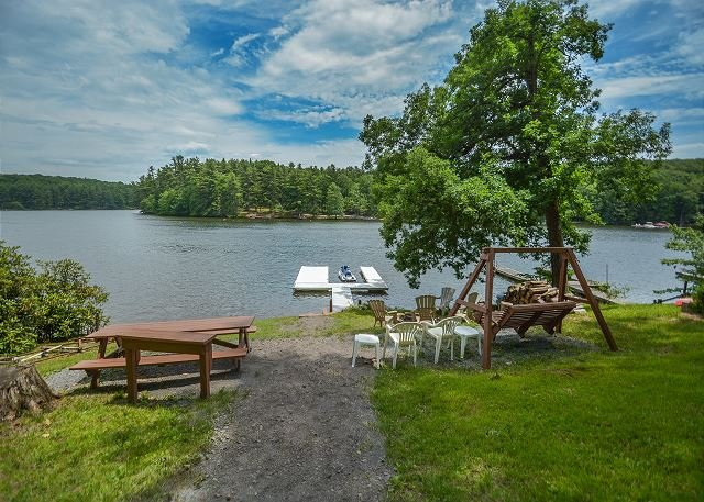 Dock - Lake front home with private dock & views! - Swanton - rentals
