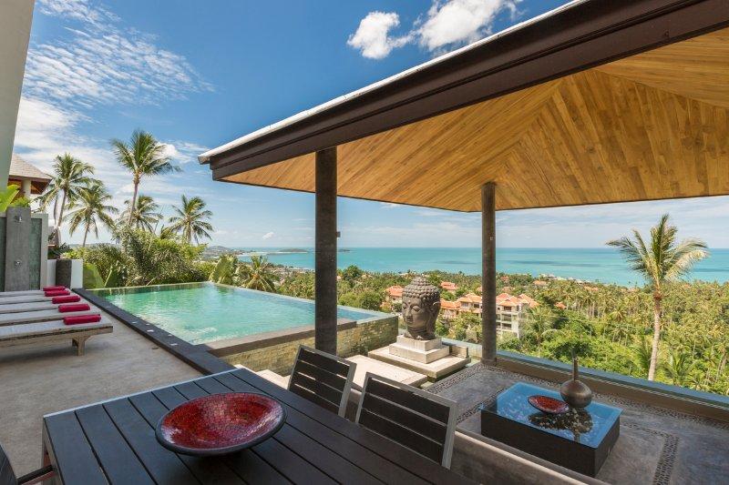 Stunning sea views - Villa Jaliza, Luxury 6 Bedroom Villa, Chaweng Noi - Chaweng - rentals