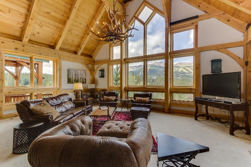 Great Room View - Exquisite in Town! - 4,800 Sf - Ten Peaks Lodge - Breckenridge - rentals