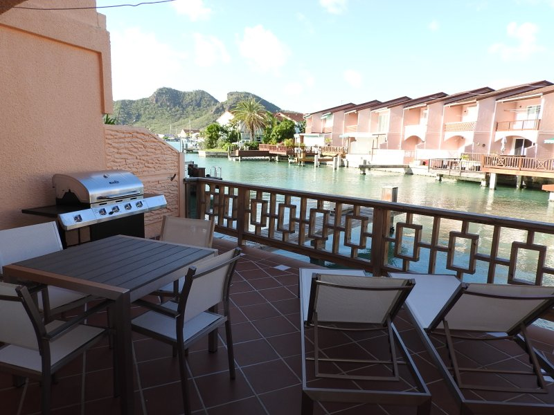 Patio with outside dining - Villa 237E- Jolly Harbour, Antigua - Jolly Harbour - rentals