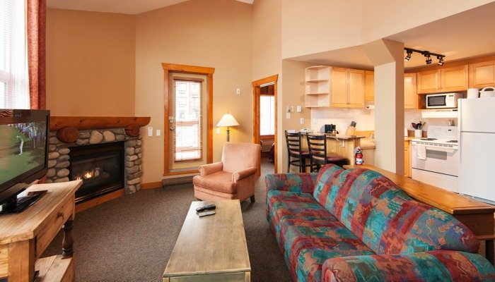 The 2 bedroom condo has an open-floor concept - Fernie Lizard Creek Lodge 2 Bedroom Condo - Fernie - rentals