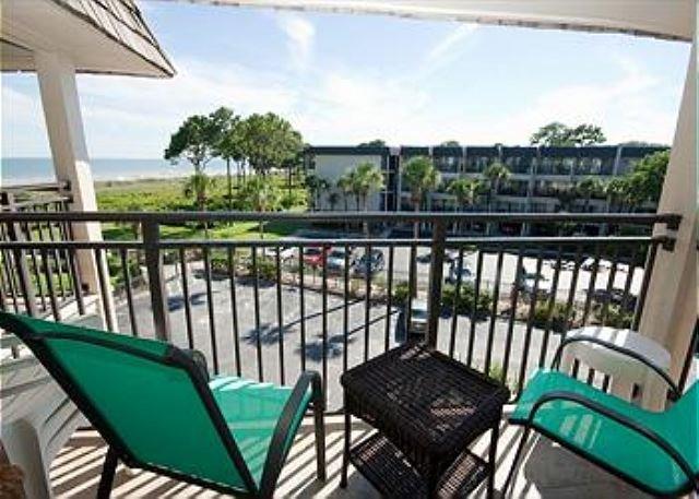 Seaside Villas - View from Balcony - 1 Bedroom Oceanside Seaside Villa 328 , Hilton Head, SC - Hilton Head - rentals