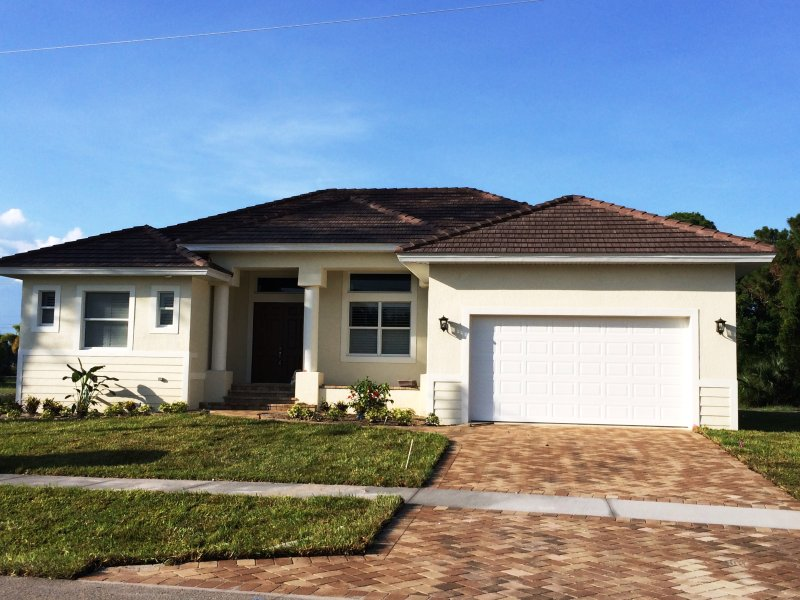 Front View of House - Brand NEW Inland 4-Bedroom Home with Pool - Marco Island - rentals