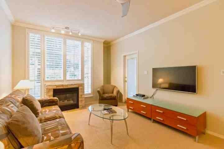 Big Screen TV ,Courtyard level condo - Glacier Lodge condo#105 - Whistler - rentals