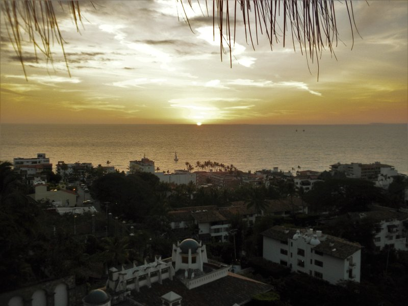Sunset from the Terrace - Lovely 3-Bedroom Villa,  FREE Use of Ford Escape. - Puerto Vallarta - rentals