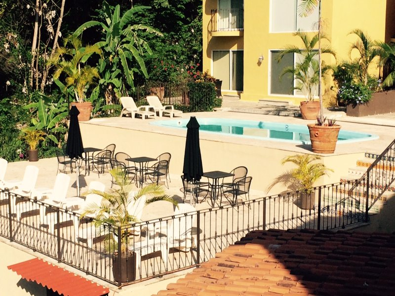 New pool area with reclining sun beds. - Lovely 3-Bedroom Villa,  FREE Use of Ford Escape. - Puerto Vallarta - rentals