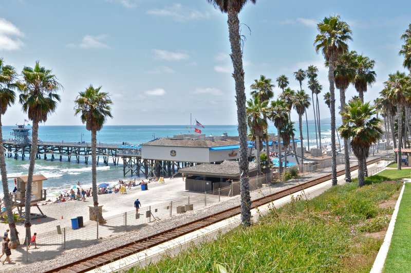 Visit the famous San Clemente pier, just half a mile from this vacation rental. - Modern Condo Near Beach & Just Steps to Local Shops in Pier Bowl! - San Clemente - rentals