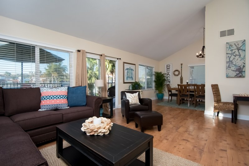 Welcome to your new San Clemente vacation rental. Sofa folds out into a queen size bed. - Spacious coastal condo, steps to beach access & restaurants at North Beach!! - San Clemente - rentals
