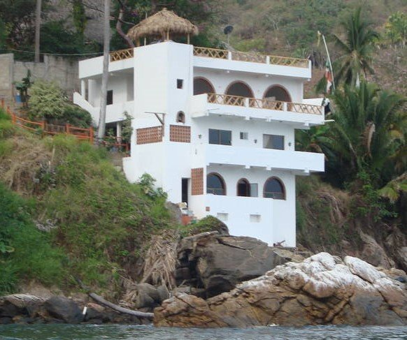 Deluxe waterfront  top floor accommodation, best location in Yelapa with the best view. - Casa Tonielle at Mar y Sol Villas ... the absolute - Yelapa - rentals