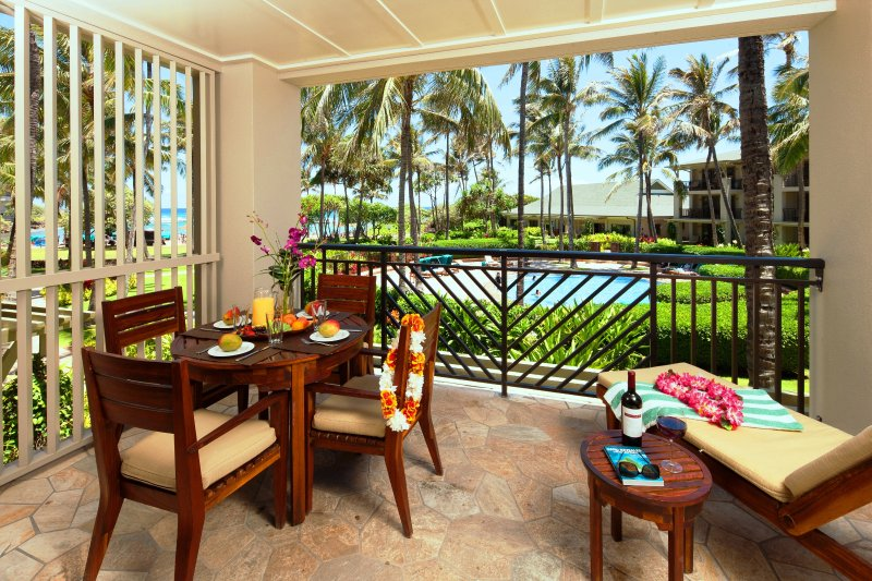 Lanai with ocean view - Villa 208 Second Level 3 Bed Ocean and Pool Views - Kahuku - rentals