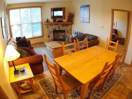 Dining Living - Crystal Forest Condos - 65 - Sun Peaks - rentals