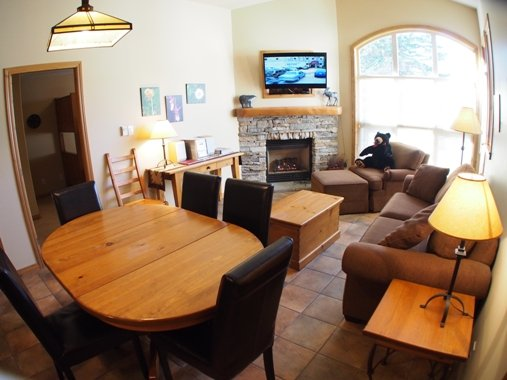 Dining Living - Crystal Forest Condos - 72 - Sun Peaks - rentals