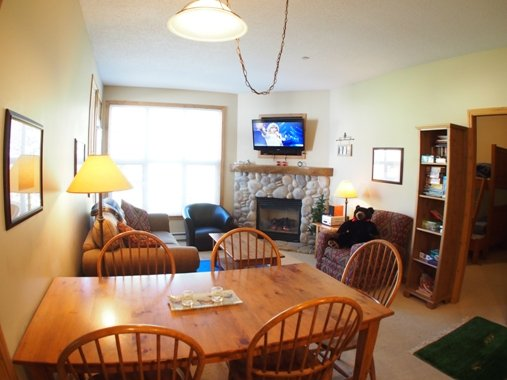 Dining Living - Crystal Forest Condos - 53 - Sun Peaks - rentals