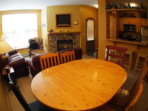 Living Dining Kitchen - Crystal Forest Condos - 48 - Sun Peaks - rentals