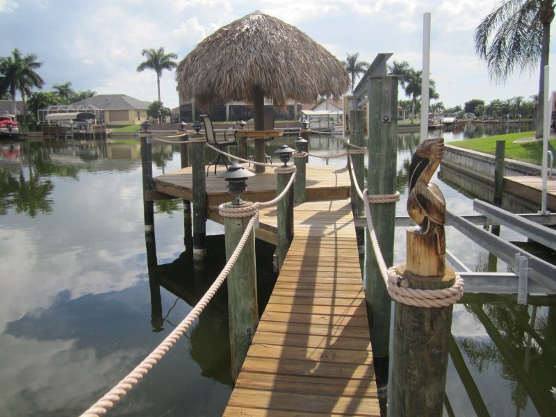 Boat Lift, Dock and New Tiki Hut! - Spectacular Water Views from Every Bedroom! - Cape Coral - rentals