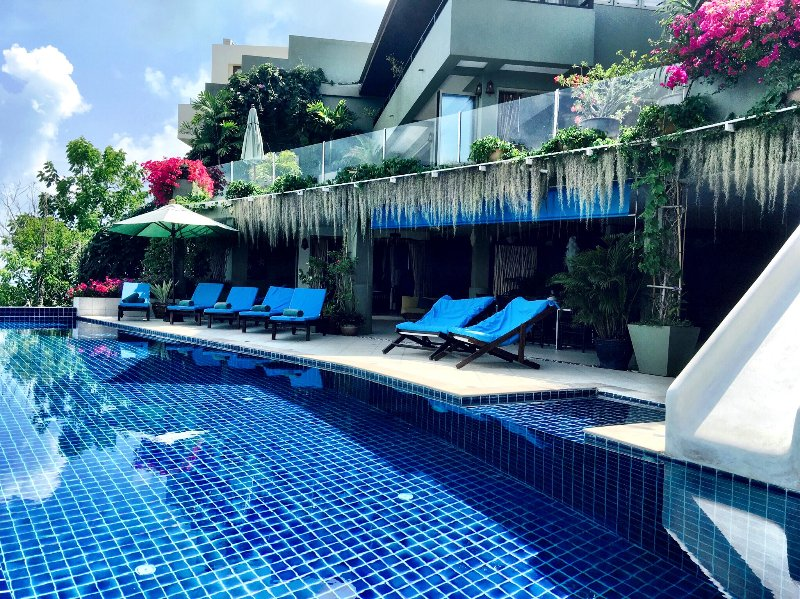20m infinity edge pool with 180 degree views of Koh Samui, complete with a water slide.  - Samui Summit Estate - 180 Seaview Pool Villa - Choeng Mon - rentals