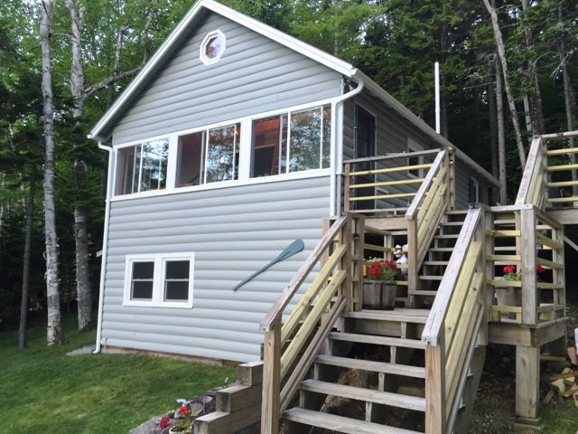 Front of Cabin facing Lake - #148 Hillside home with access to Moosehead Lake & overlooking the mountains - Rockwood - rentals