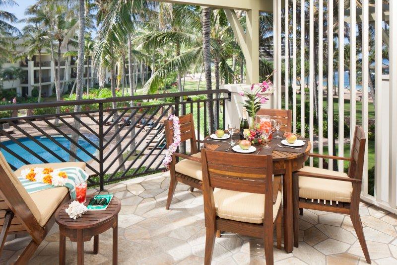 Lanai with ocean views - Villa 213 Second Floor 3 Bed Ocean and Pool Views - Kahuku - rentals