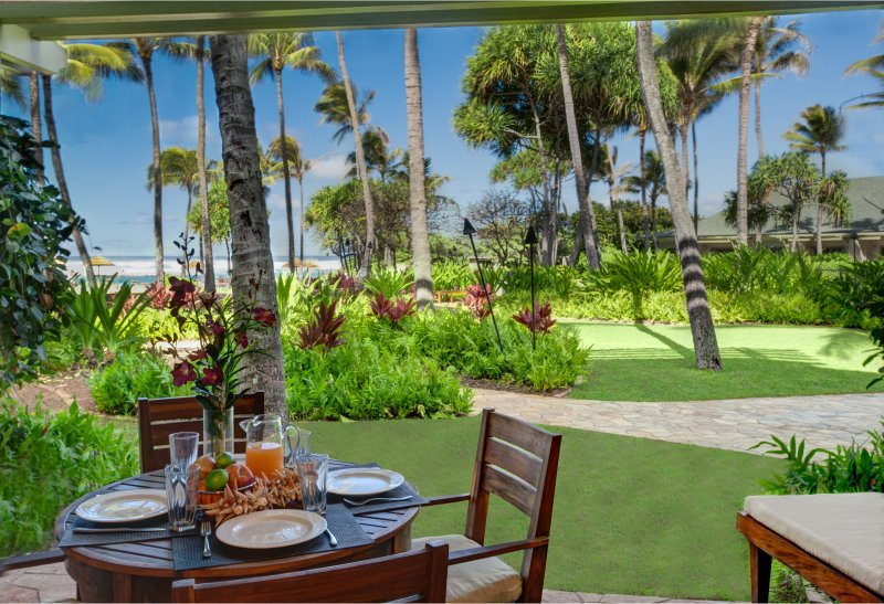 Ocean view lanai - Villa 106 Beach Level 3 Bed with Direct Ocean View - Kahuku - rentals