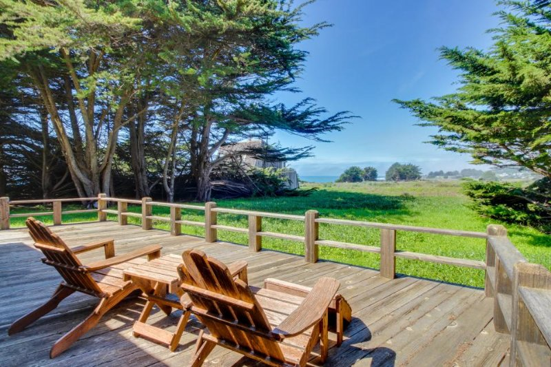Lovely home with private hot tub, shared pool, ocean views & garden! Dogs ok! - Image 1 - Sea Ranch - rentals