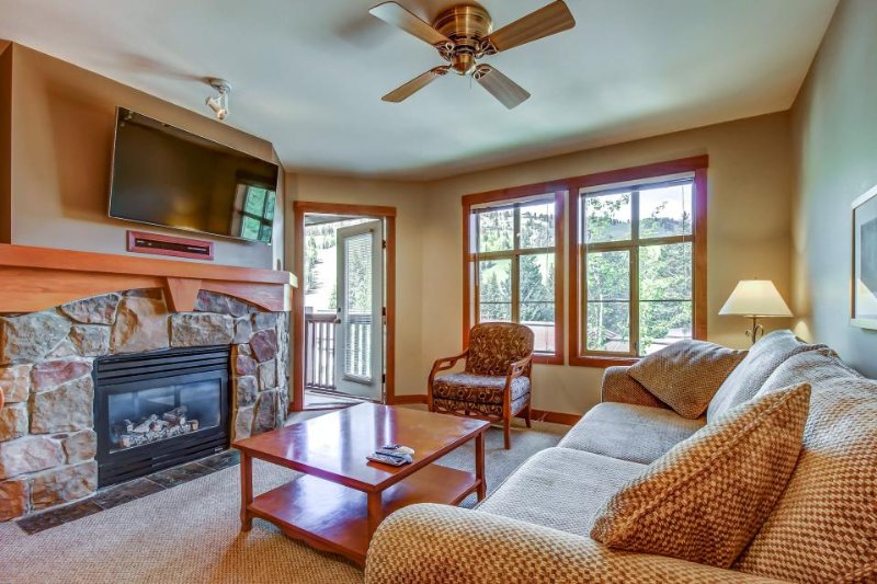 Ski-in/ski-out condo with lovely ski views and access to a shared pool & hot tub - Image 1 - Solitude - rentals