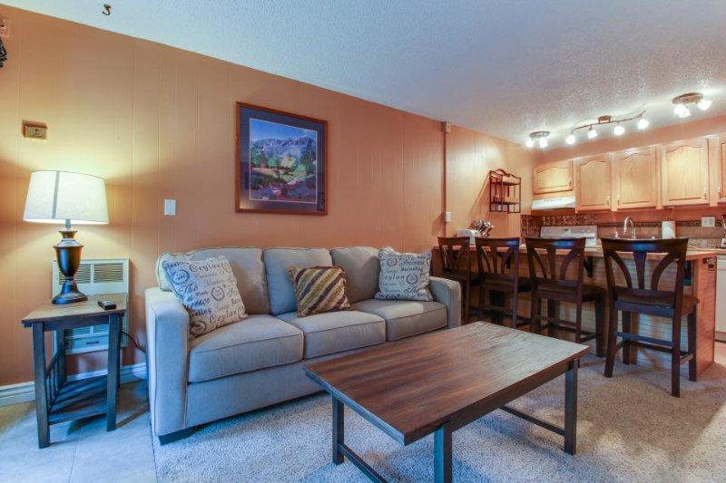 Comfy riverfront condo w/ shared pool & sauna - walk to ski lifts! - Image 1 - Keystone - rentals
