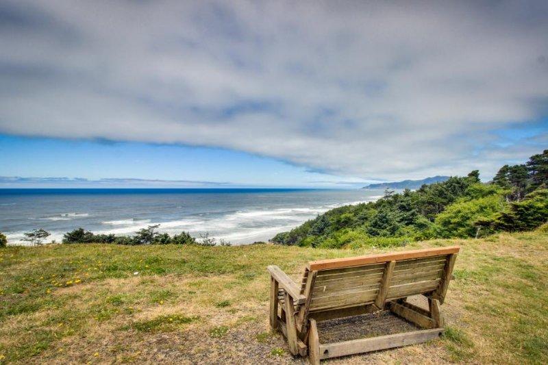 Retro-chic home w/ ocean views, hot tub, & enclosed back yard - dog-friendly! - Image 1 - Newport - rentals