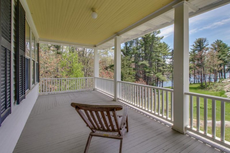 Elegant and inviting plantation-style home with two levels of wrap-around decks - Image 1 - Boothbay Harbor - rentals