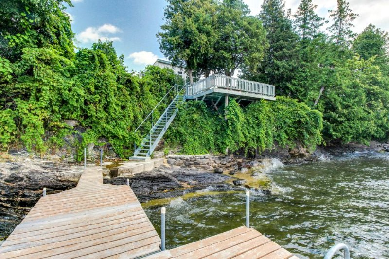 Lakefront home w/patio over the lake, private dock, stunning sunset views! - Image 1 - South Hero - rentals