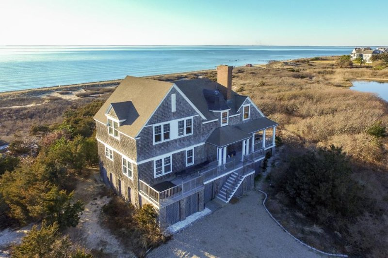 Luxury bayfront island home with private hot tub, immediate beach access! - Image 1 - Falmouth - rentals