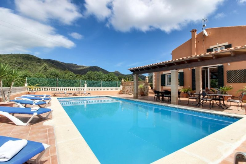 Family-friendly villa with a private pool, terraces & stunning views! - Image 1 - Arta - rentals