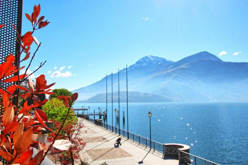 Italian lakefront home with entertainment, private deck & stunning views! - Image 1 - Dongo - rentals